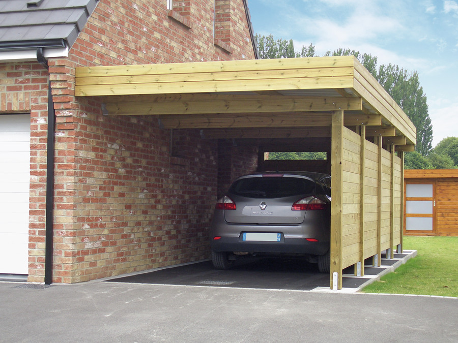 Protect your car with a carportdattalo dattalo for Single garage with carport